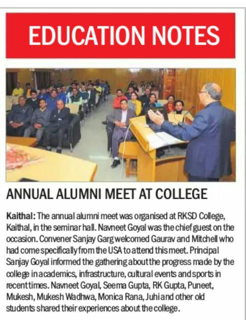 Alumni Meet on Dec. 5,2019